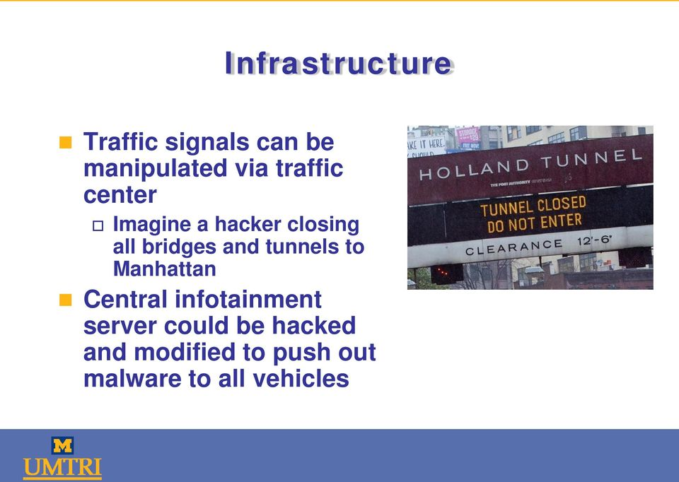 tunnels to Manhattan Central infotainment server could