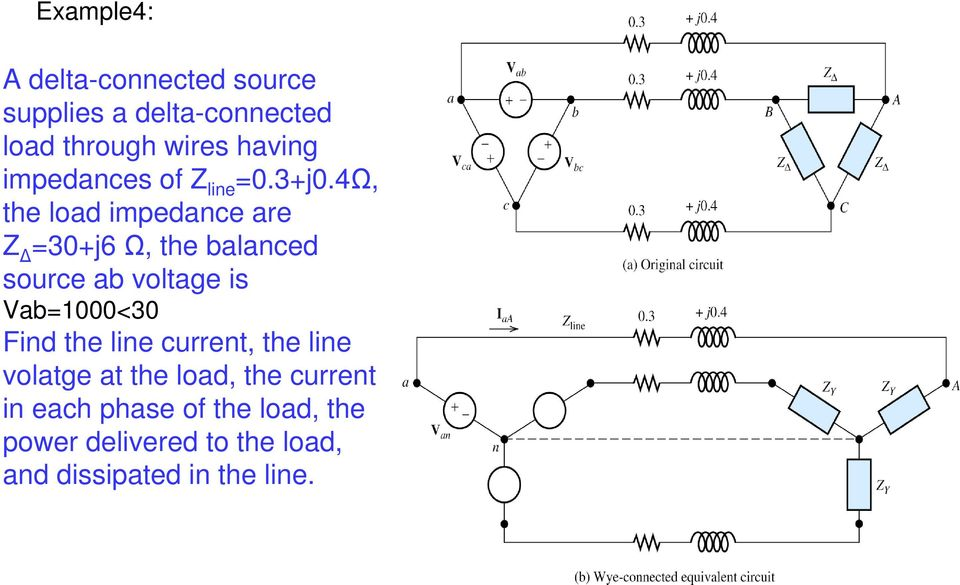 Delta Source Wye Load