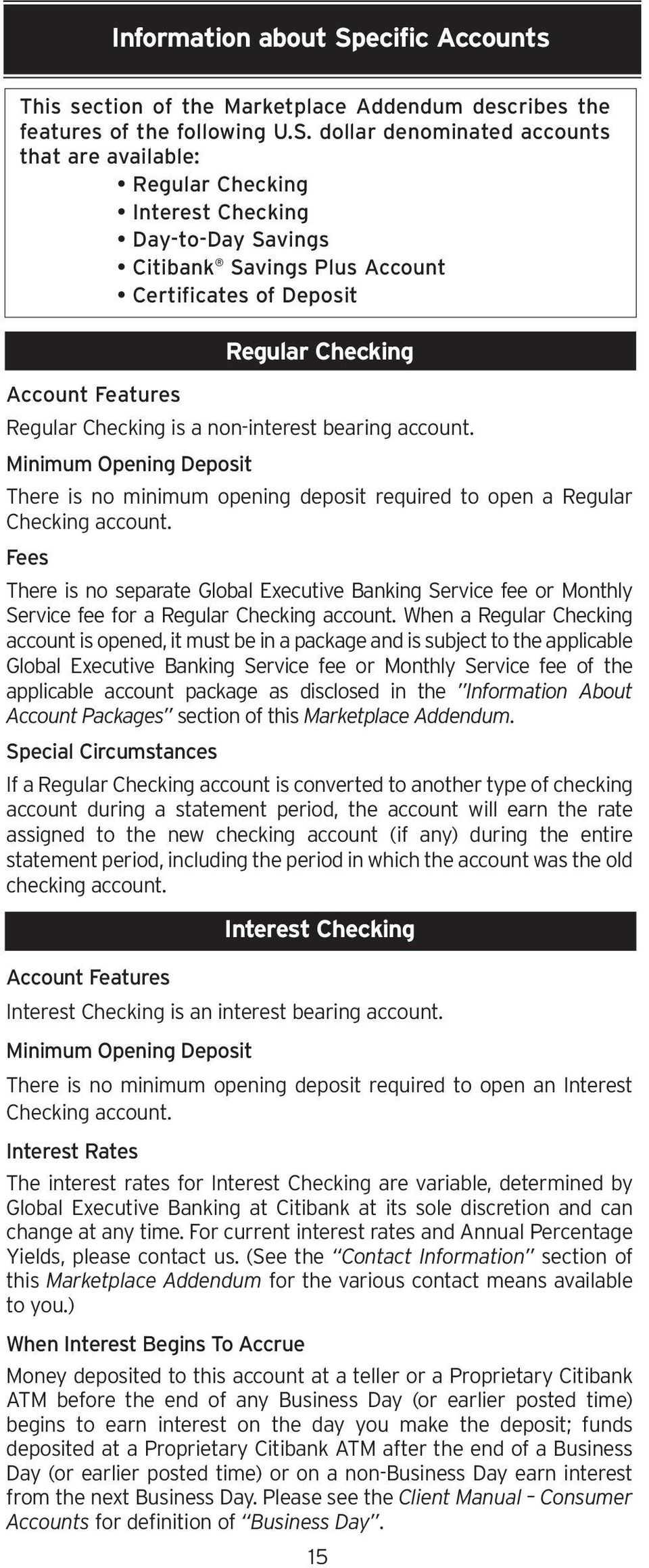Marketplace Addendum For Global Executive Banking Customers Pdf