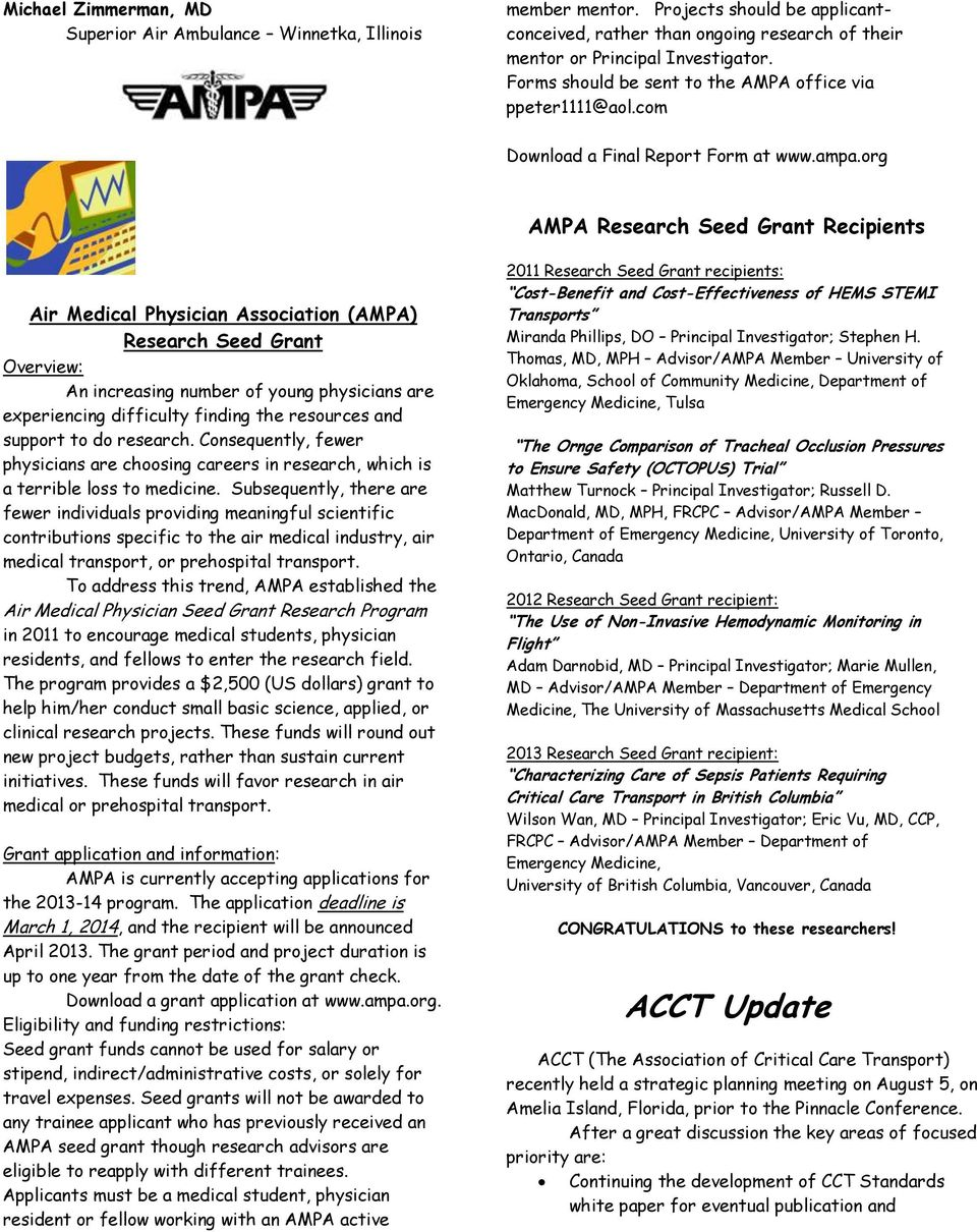 Air Medical Physician Association - PDF
