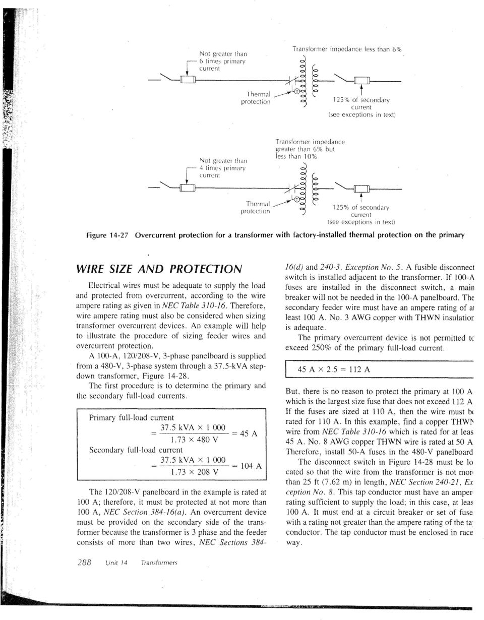 Transformers unit 14 objectives pdf exceptions in text figure 14 27 overcurrent protection for a transformer with factory greentooth Image collections