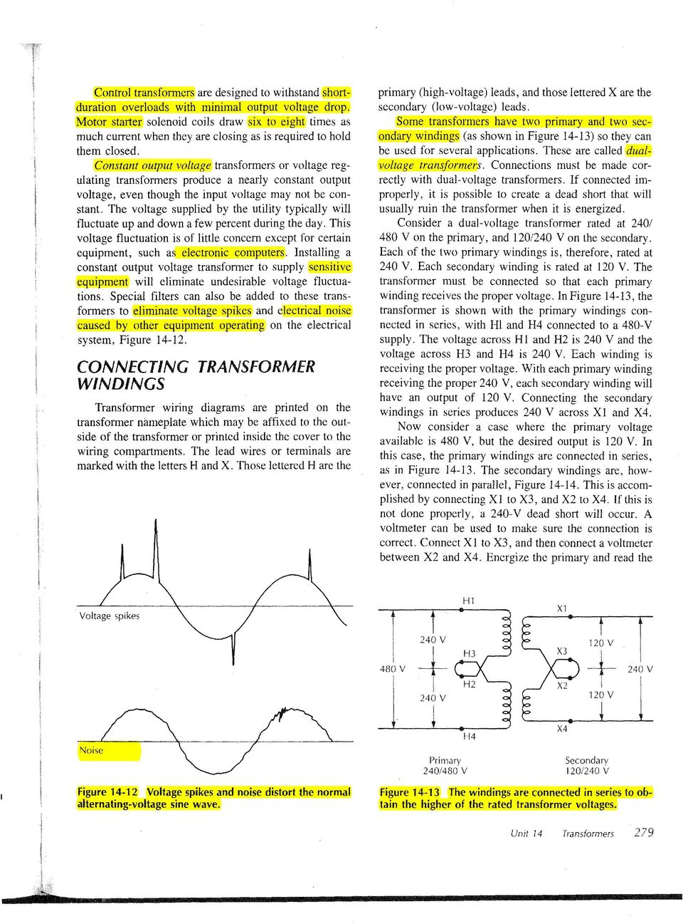 Transformers Unit 14 Objectives Pdf 480 240 120 Transformer Wiring Diagram Constant Output Voltage Or Regulating Produce A Nearly Even