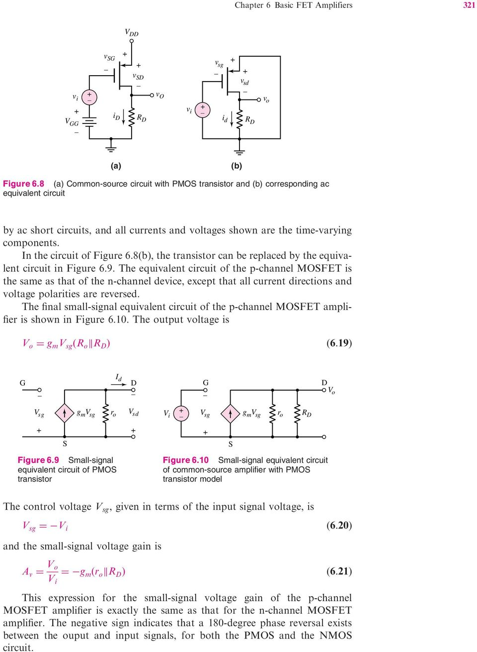 Basic Fet Ampli Ers 60 Preview 61 The Mosfet Amplifier Pdf Tutorial Circuits Field Effect Transistor In Circuit Of Figure 68b Can Be Replaced By