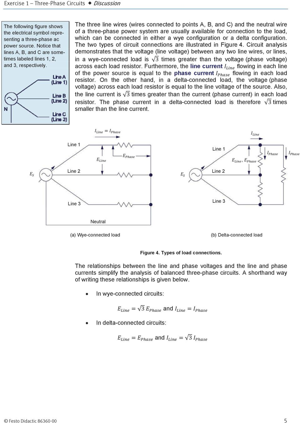 Three Phase Ac Power Circuits Pdf Wiring Diagram C Neutral Wire Will Be Connected To The Line Wires Points A B And