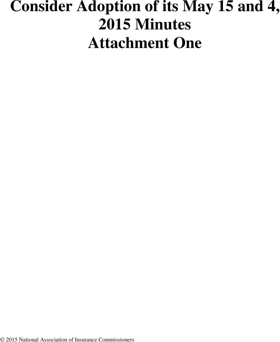 Attachment One 2015 National