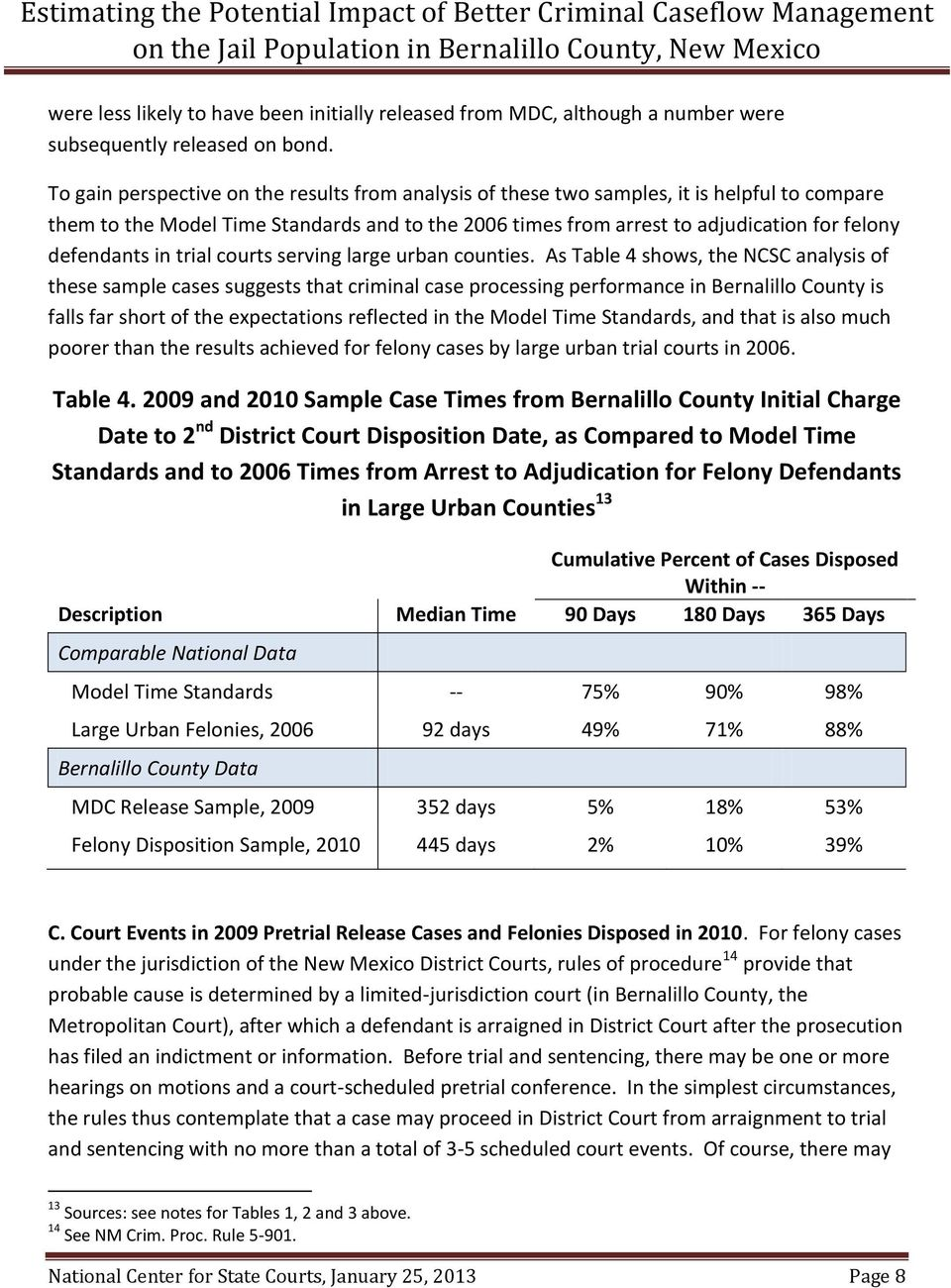 defendants in trial courts serving large urban counties.