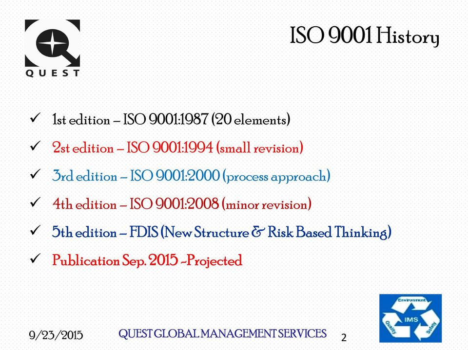 A Review ISO 9001:2015 Draft - PDF