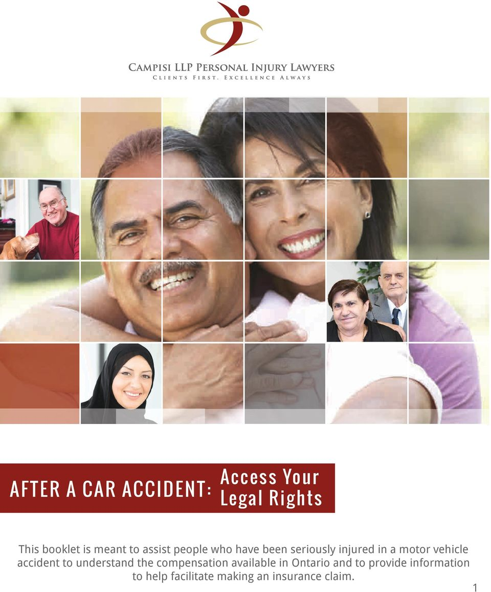 a motor vehicle accident to understand the compensation available in