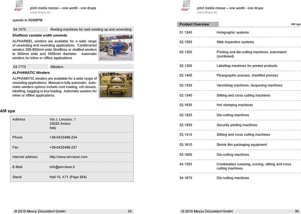 Personal guide for: Search Criteria: print media messe one world ...