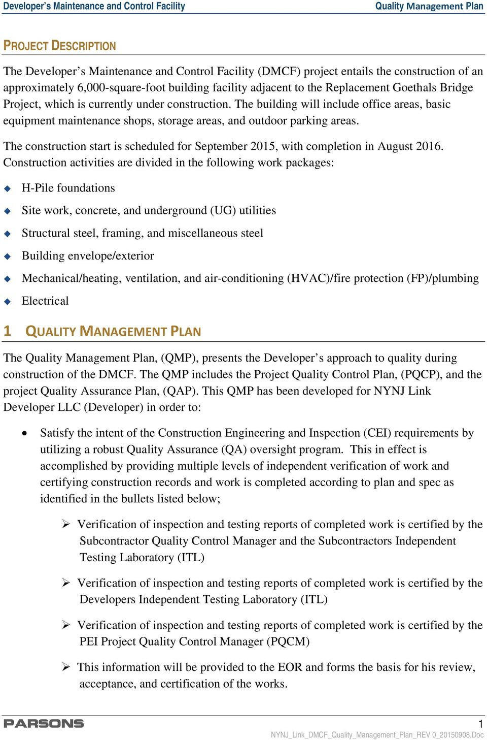 quality management plan - pdf free download  docplayer.net