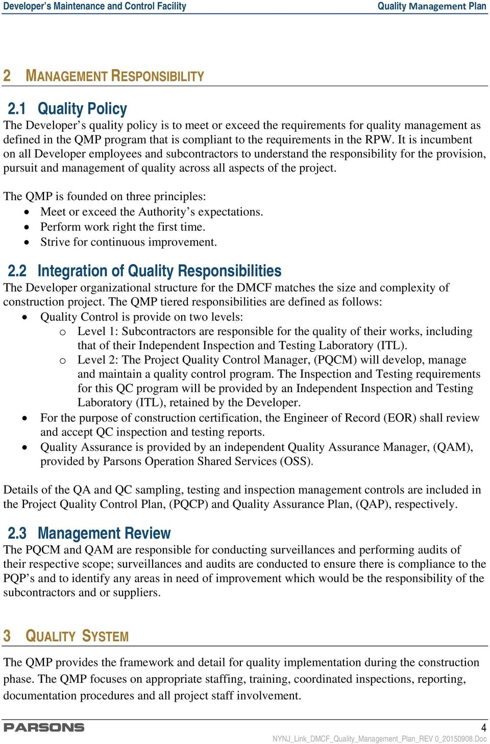 Quality Control Plan Template from docplayer.net