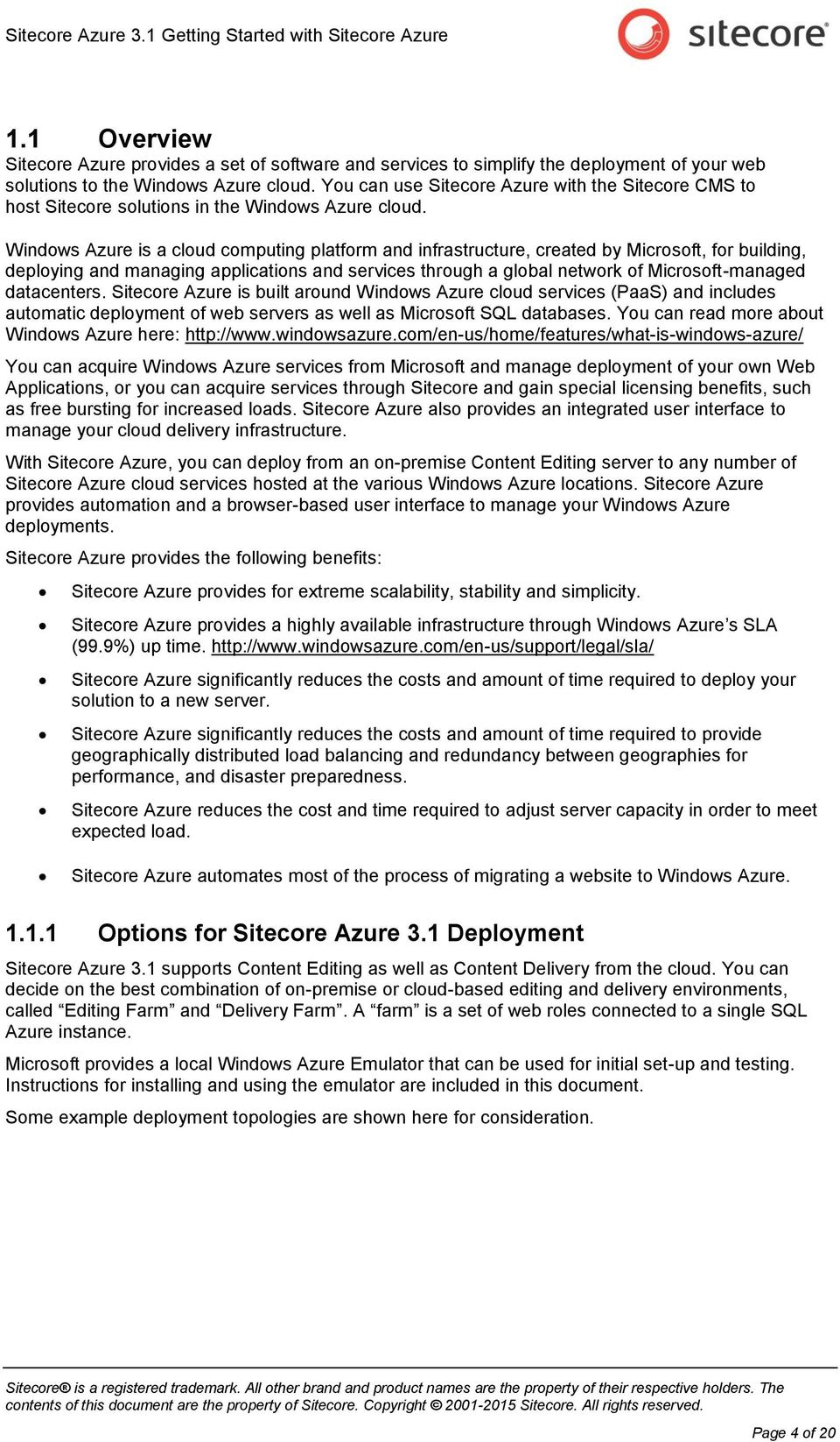 Getting Started with Sitecore Azure - PDF