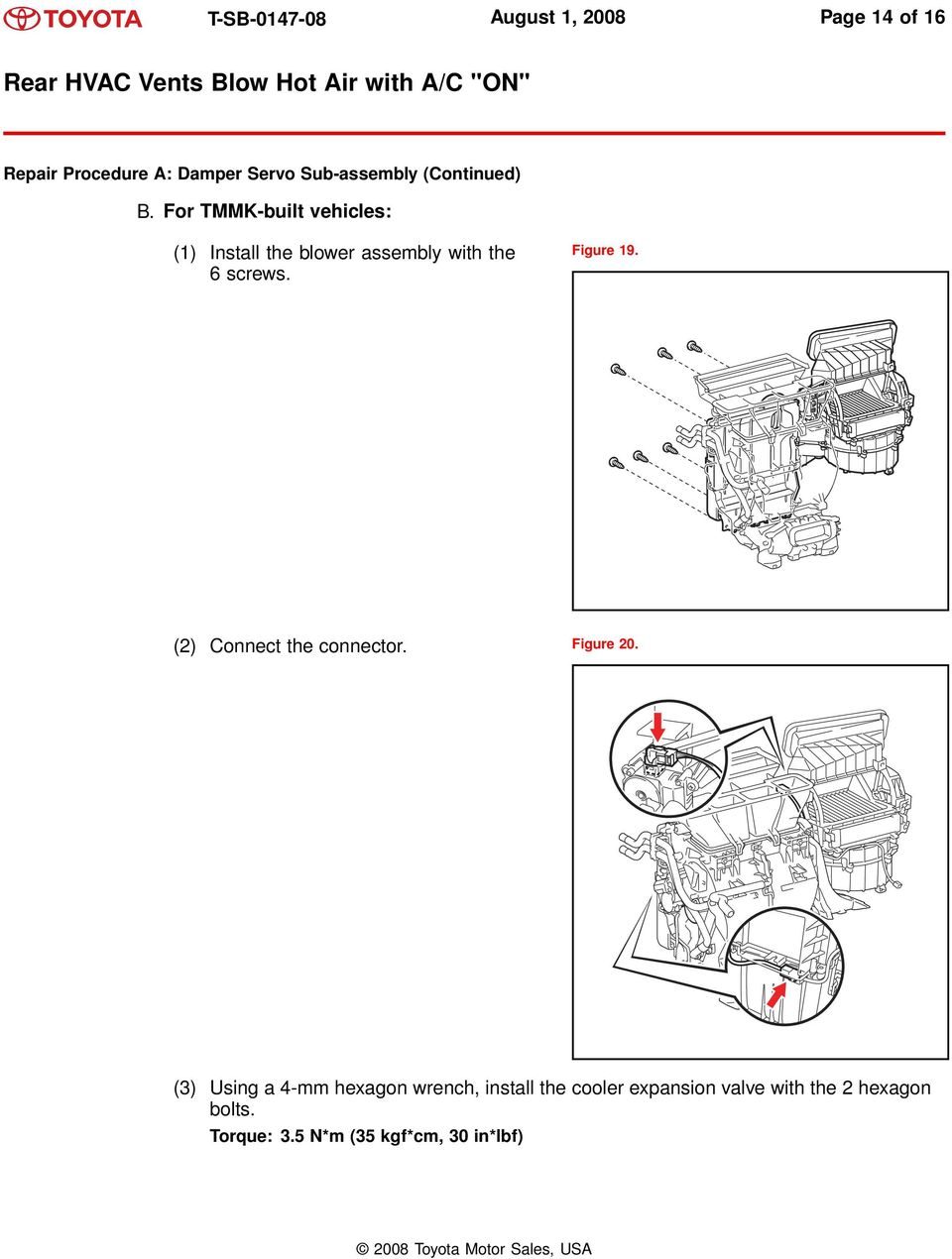 Toyota Sienna Service Manual: Blower unit (for rear air conditioning system)