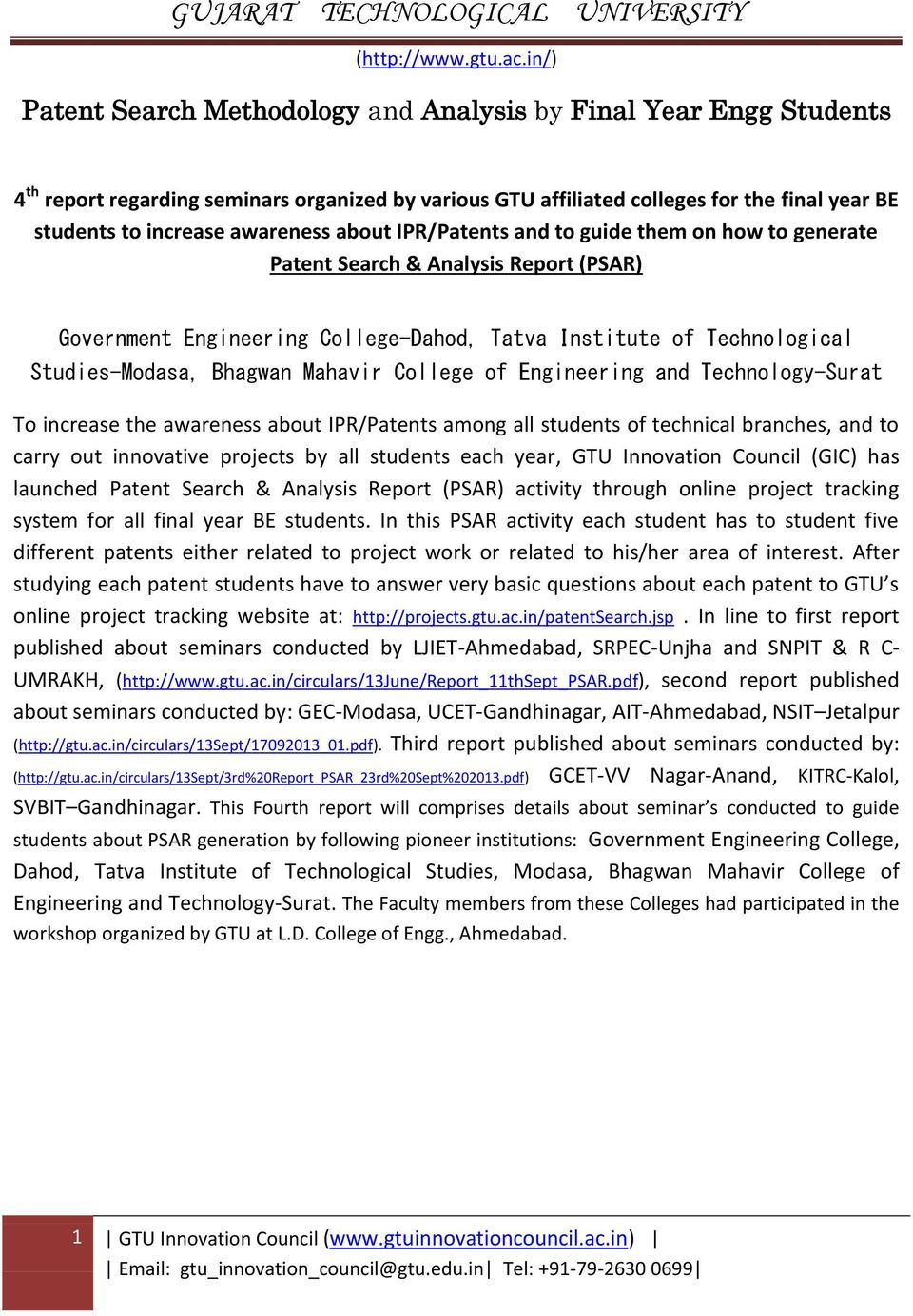 GUJARAT TECHNOLOGICAL UNIVERSITY - PDF