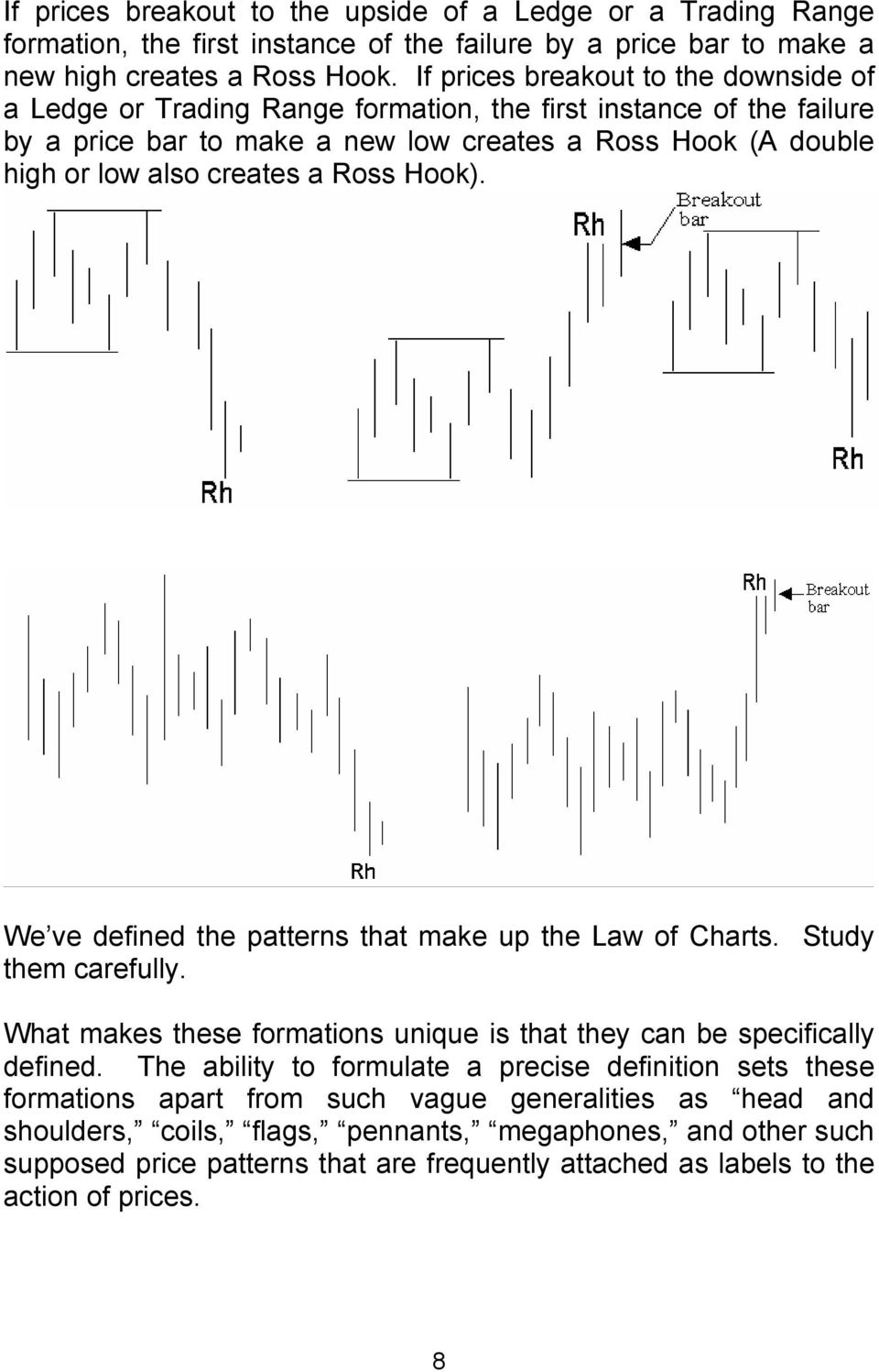 Ross Hook). We ve defined the patterns that make up the Law of Charts. Study them carefully. What makes these formations unique is that they can be specifically defined.