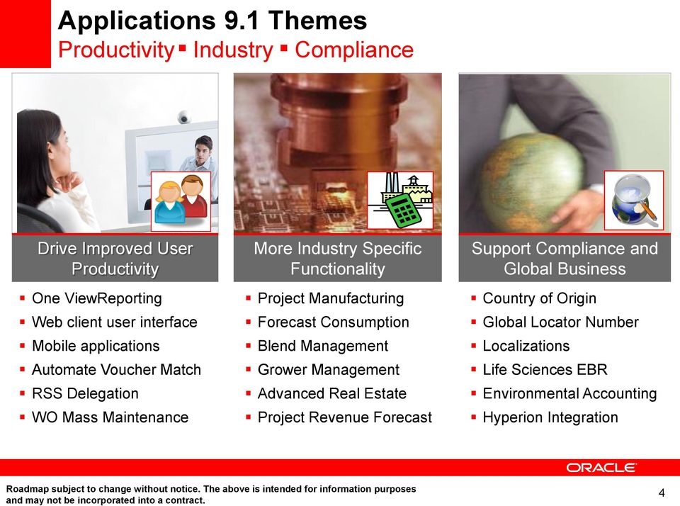 Insert Picture Here> JD Edwards EnterpriseOne Applications