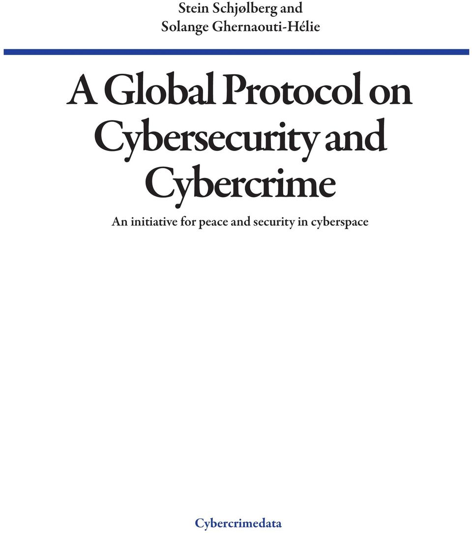 Cybersecurity and Cybercrime An