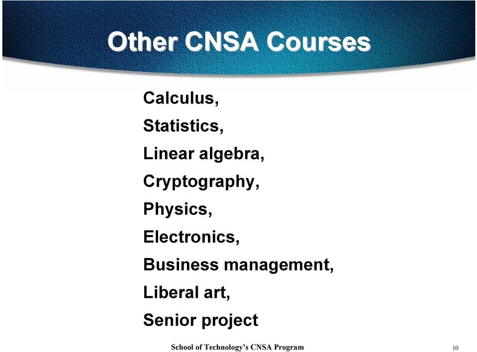 Cryptography, Physics, Electronics,