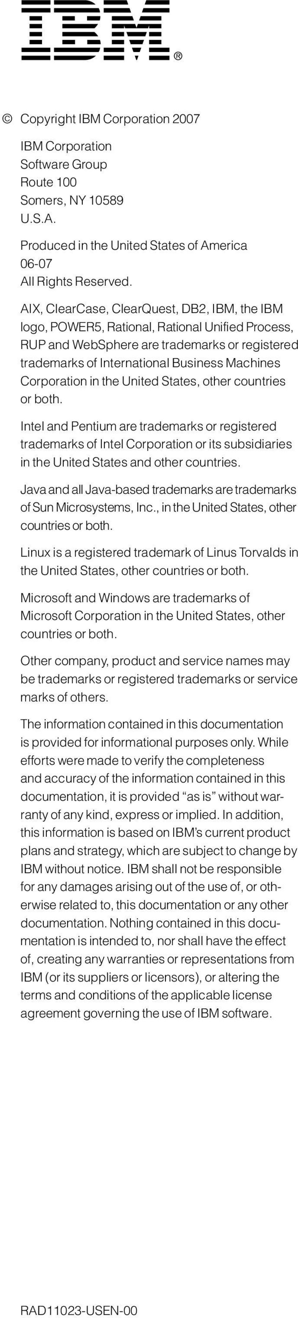 Corporation in the United States, other countries or both. Intel and Pentium are trademarks or registered trademarks of Intel Corporation or its subsidiaries in the United States and other countries.