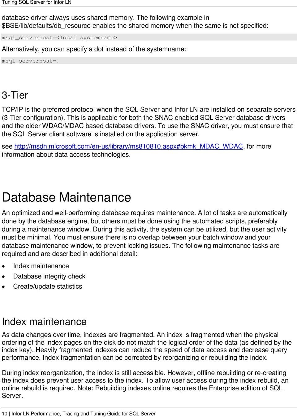 Infor LN Performance, Tracing, and Tuning Guide for SQL Server - PDF