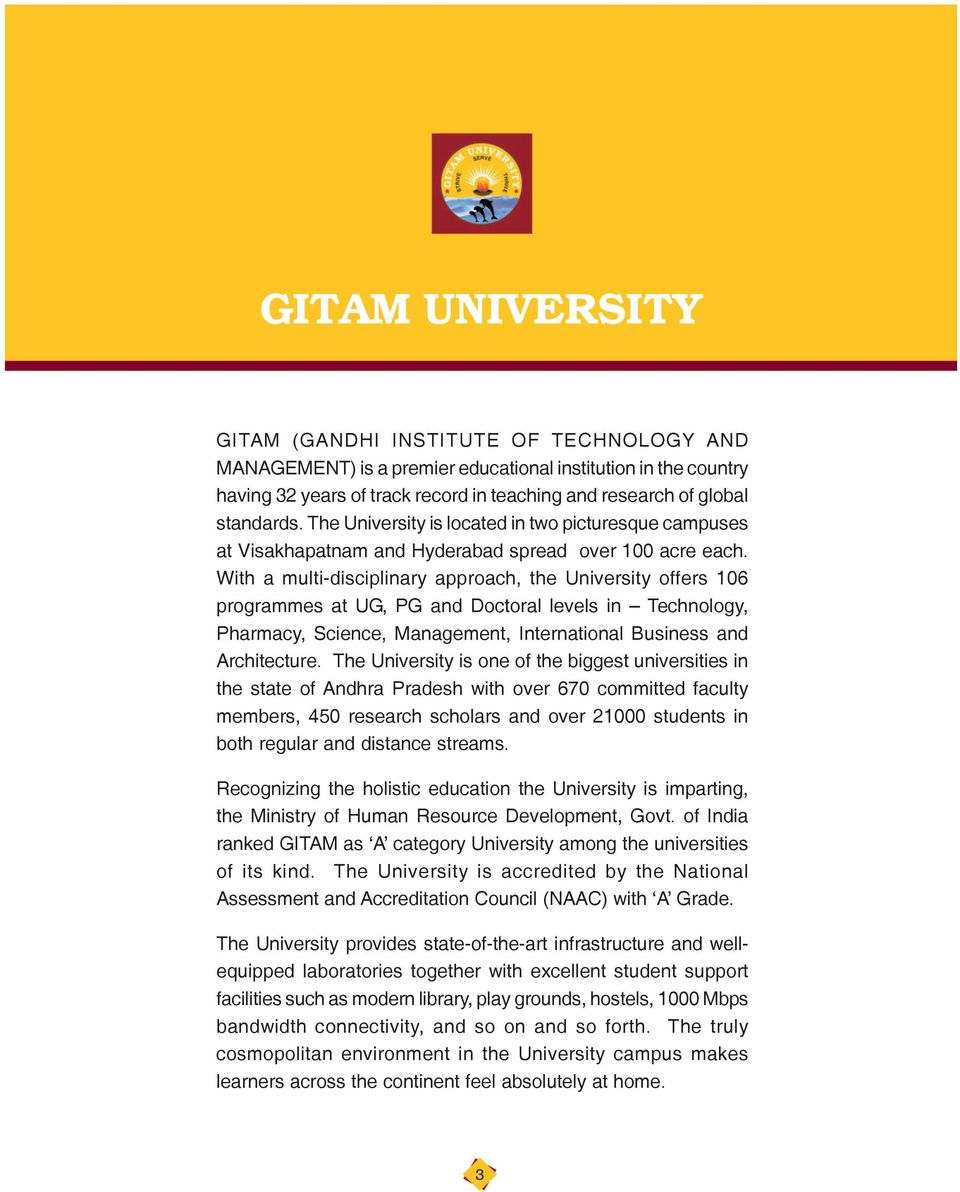 What  you want to study is your decision  Think of MBA at GITAM for