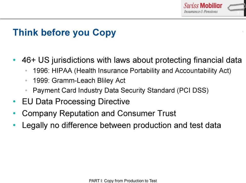Industry Data Security Standard (PCI DSS) EU Data Processing Directive Company Reputation and