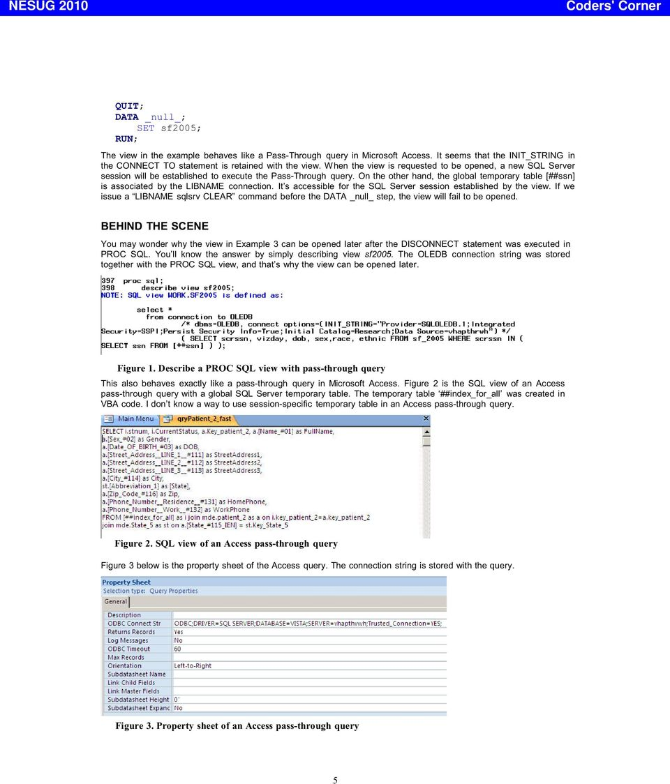 or ## - how to reference SQL server temporary tables? Xiaoqiang Wang
