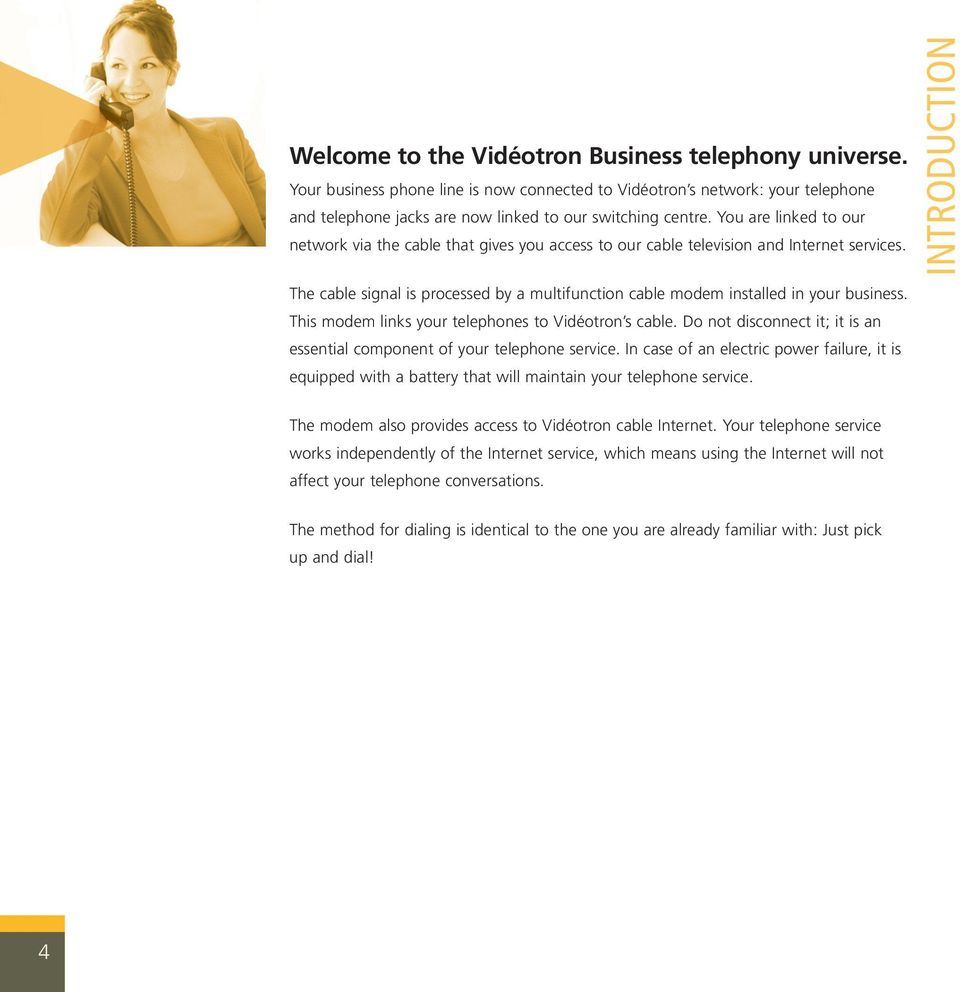 Vidéotron Business Telephony User S Guide PDF - Videotron online invoice