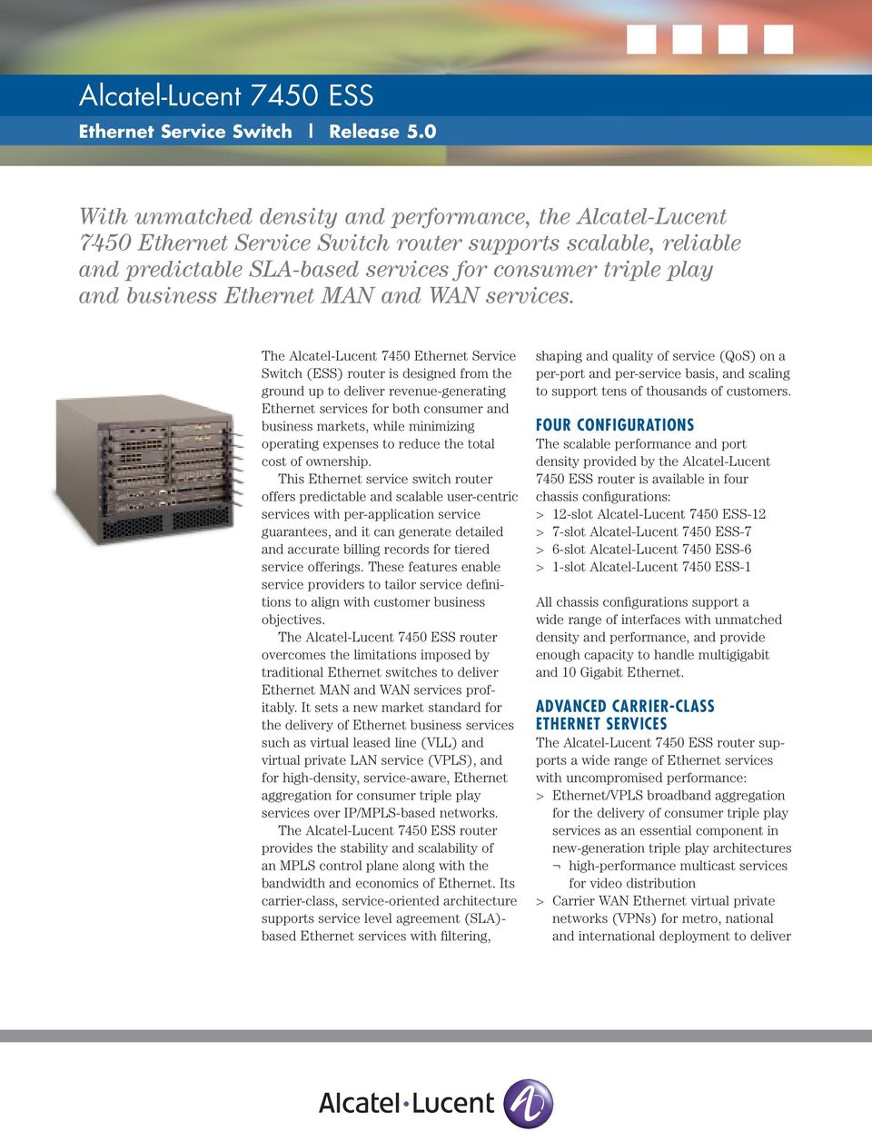 Alcatel-Lucent 7450 ESS - PDF