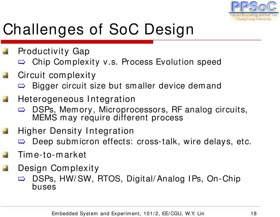 Eem870 Embedded System And Experiment Lecture 1 Soc Design Overview Pdf Free Download