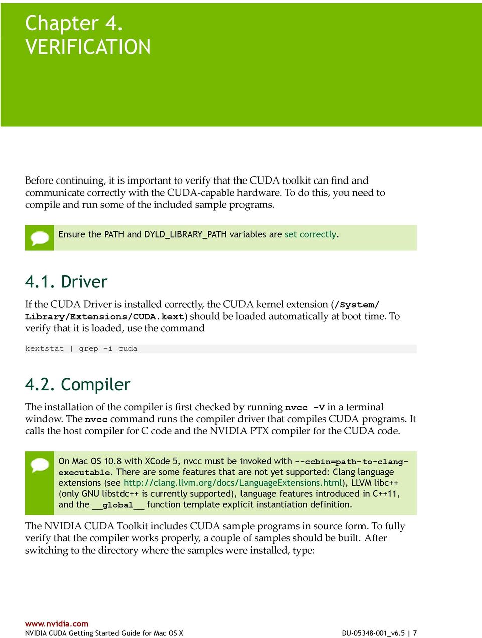 NVIDIA CUDA GETTING STARTED GUIDE FOR MAC OS X - PDF
