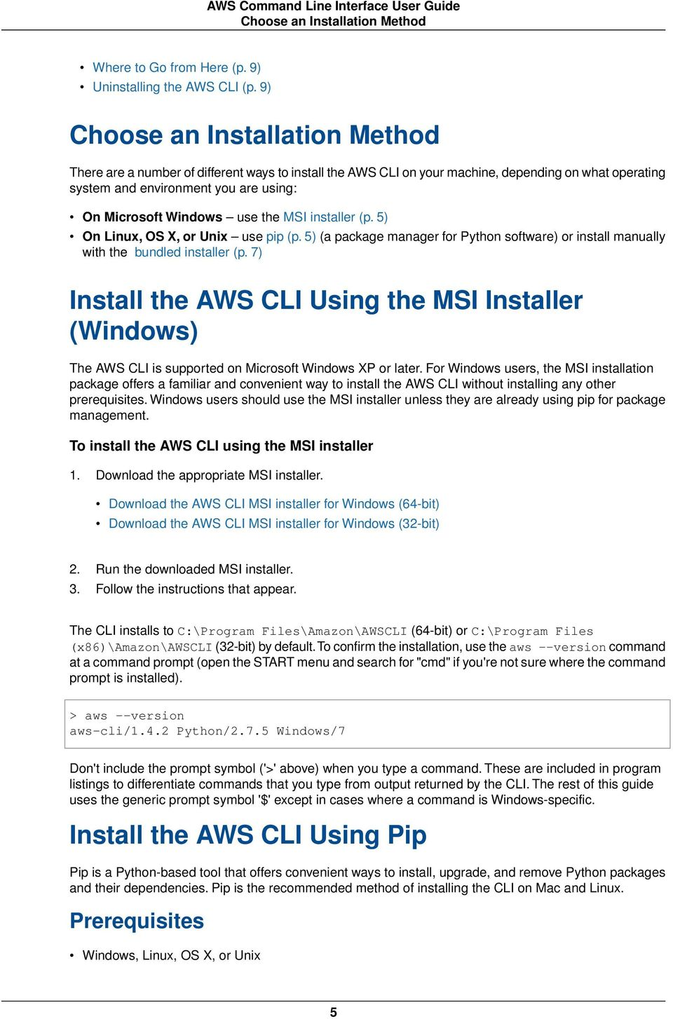 AWS Command Line Interface  User Guide - PDF