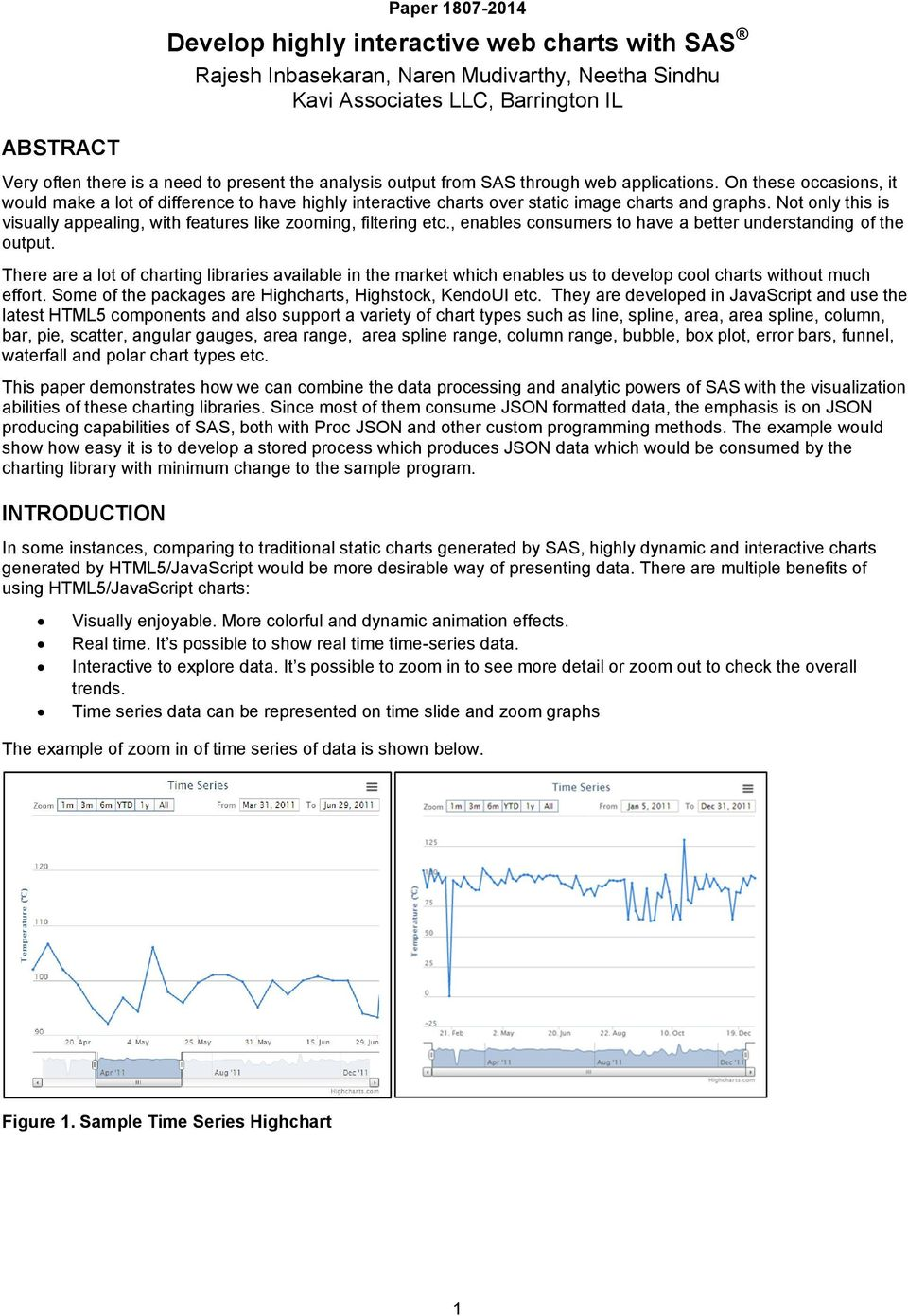 Develop highly interactive web charts with SAS - PDF