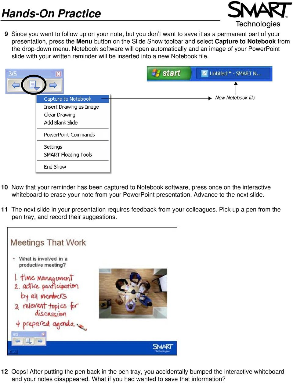 Using Microsoft PowerPoint Software on a SMART Board Interactive