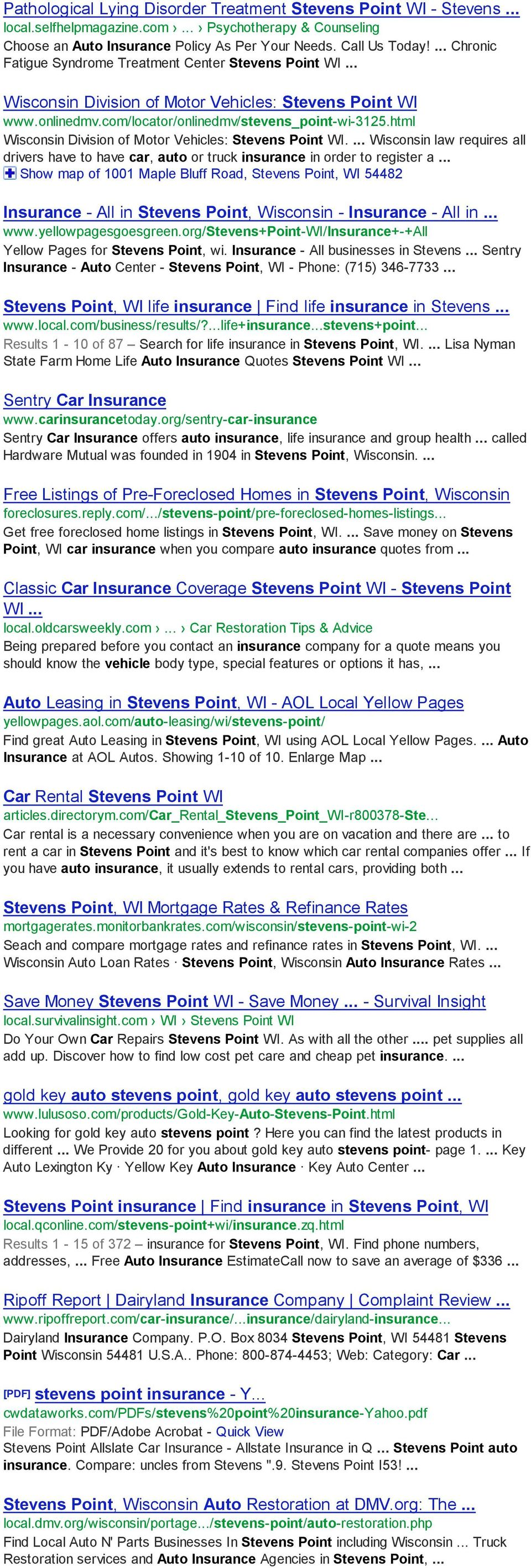 Search Stevens Point Insurance Places For Auto Insurance Near - Show car insurance companies