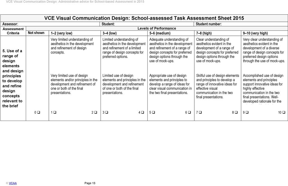 Vce Visual Communication Design Administrative Advice For School Based Assessment In Pdf Free Download