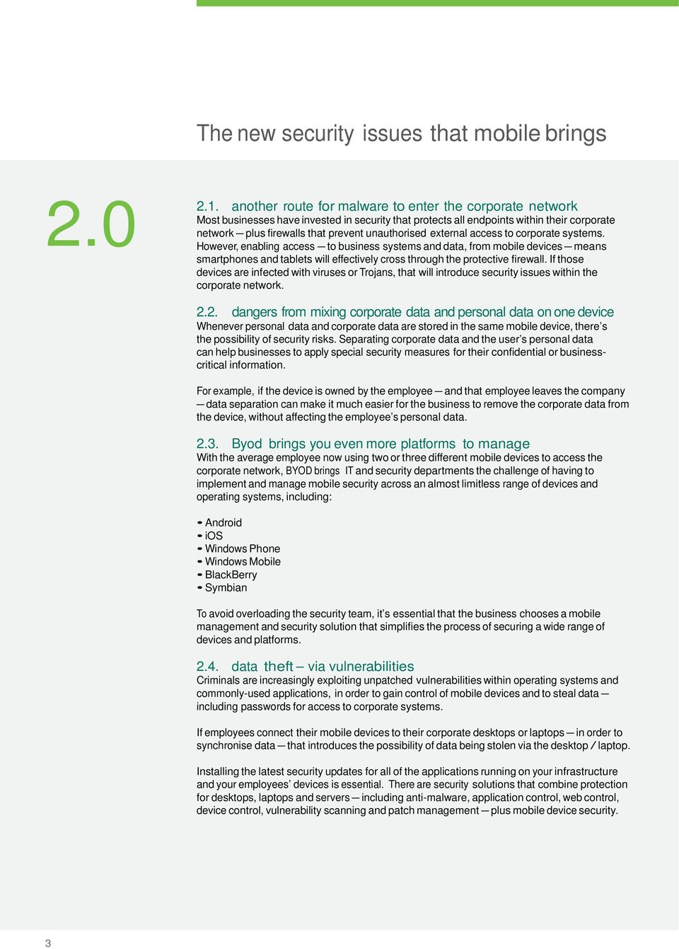 SecuRity technologies for mobile and Byod  - PDF