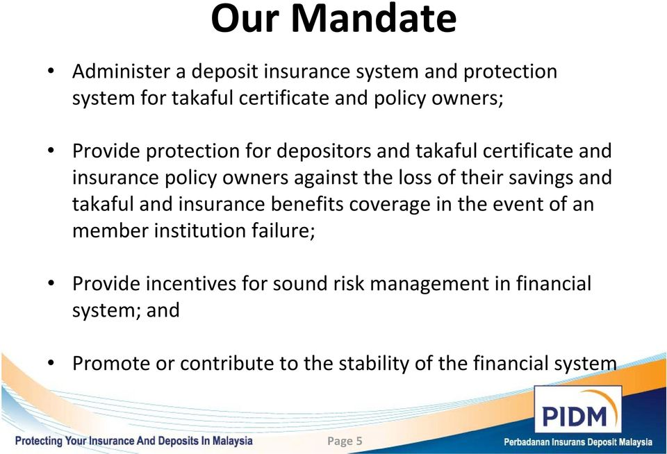 Role Of Deposit Insurance In Consumer Protection And Financial