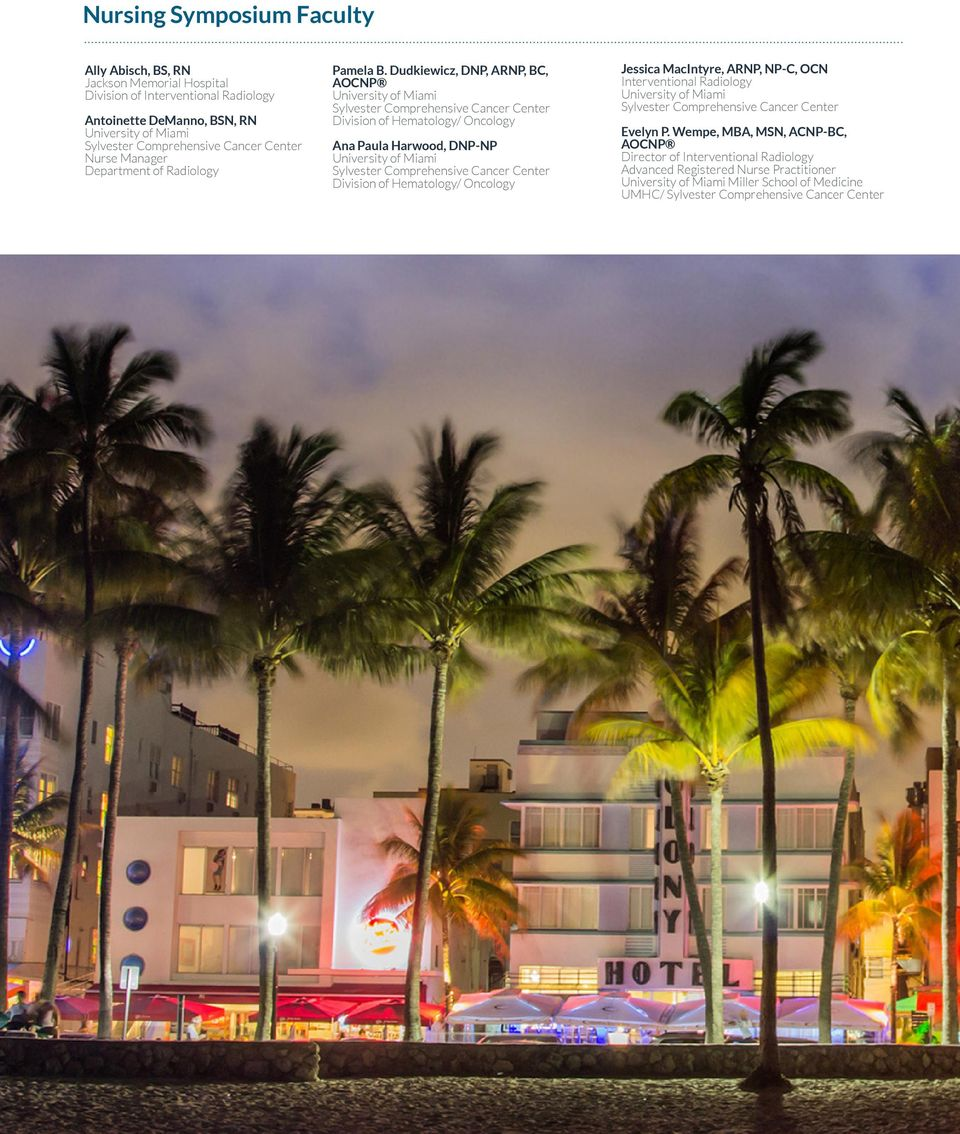 Course Directors  November 14-16, Eden Roc Miami Beach