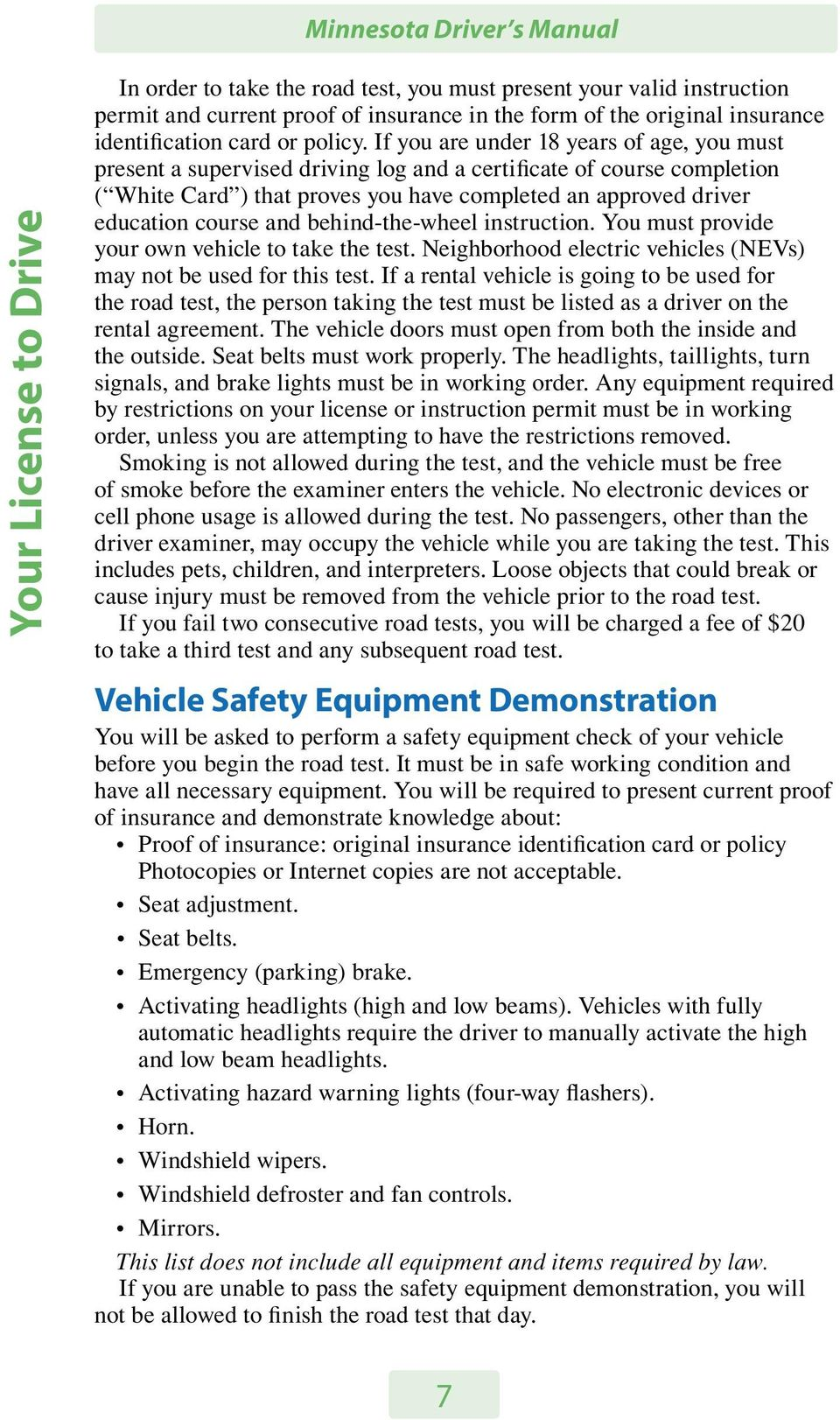 MINNESOTA DRIVER S MANUAL  Minnesota Department of Public