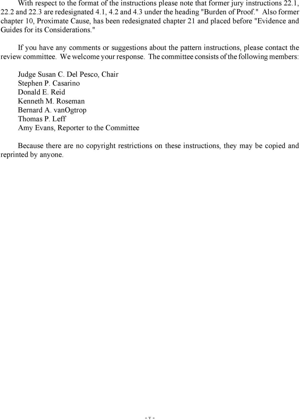 Pattern Jury Instructions For Civil Practice In The Superior Court