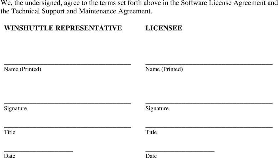 Winshuttle Llc Software License Agreement Technical Support And