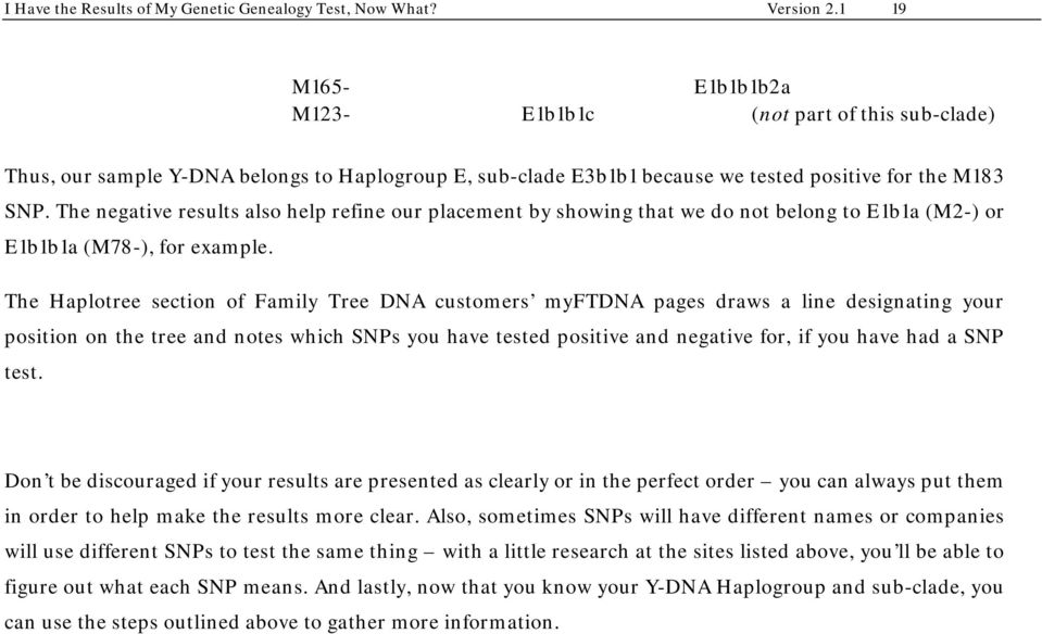 I Have the Results of My Genetic Genealogy Test, Now What? - PDF
