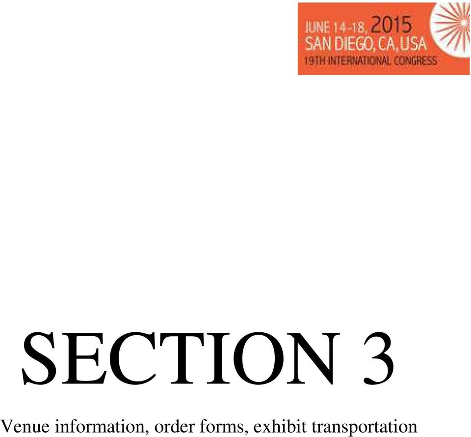 Exhibitor Service Manual  Section 1: General Information Page 3