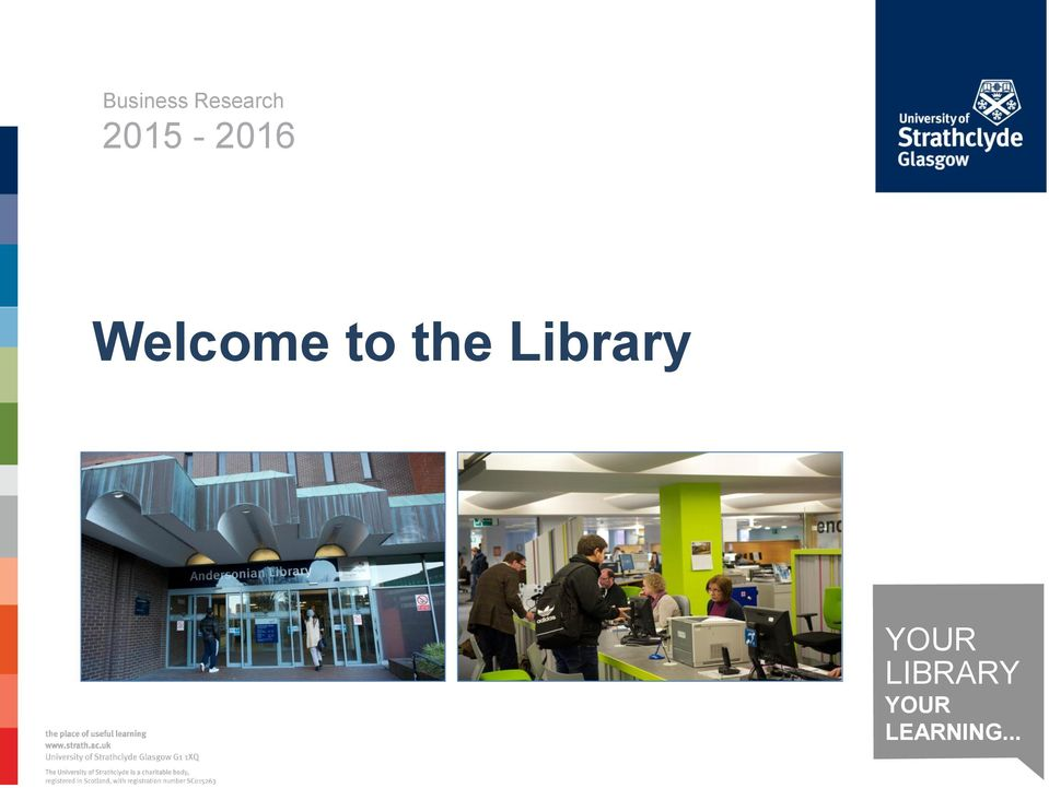 Welcome to the Library - PDF