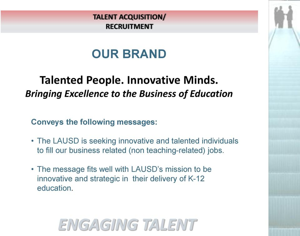 is seeking innovative and talented individuals to fill our business related (non