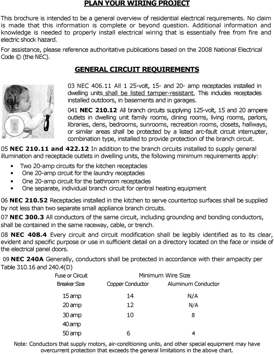 Residential Electrical Inspection Checklist Pdf Garage Circuit Wiring When Installing In For Assistance Please Reference Authoritative Publications Based On The 2008 National Code