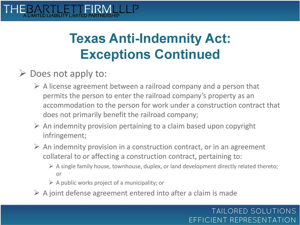 2014 Texas Indemnity Law Update Pdf
