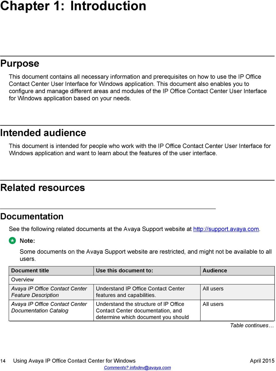 Intended audience This document is intended for people who work with the IP Office Contact Center User Interface for Windows application and want to learn about the features of the user interface.