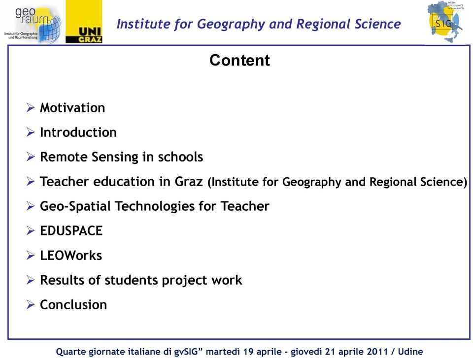 Regional Science) Geo-Spatial Technologies for Teacher